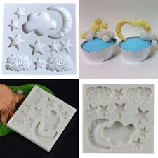 Moon Star Cloud Silicone Fondant Sugar Paste Baking Mold Clay Resin Mould