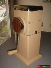 Vintage 1950's Beige Rival Ice-O-Mat Hand Crank Ice Crusher