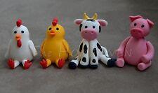 3D Edible Fondant Cake Topper  - Farm Animals  For Birthday,Baby Shower