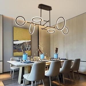 LED Pendelleuchte Hängeleuchte Deckenlampe Kronleuchter Esszimmer Büro REMOTE