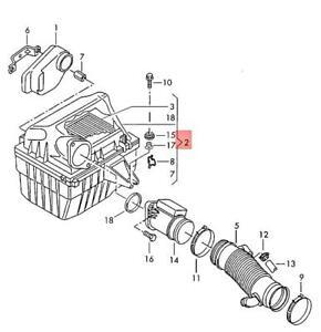 Genuine Volkswagen Air Filter NOS EuroVan 70 7D 023129607N