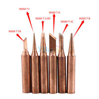 6pcs Copper Solder Iron Tips 900M-T Lead Free Soldering Welding Tool Set Newest