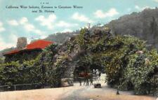 GREYSTONE WINERY Napa County, California St. Helena 1911 Rare Vintage Postcard