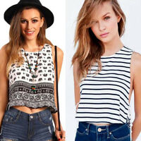 Summer Women Loose Vest Top Sleeveless Strap Blouse Casual Tank T-Shirt Fashion
