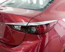 Chrome Tail Light Rear Lamp Surrounding Garnish Cover For Mazda 3 Sedan 13-18