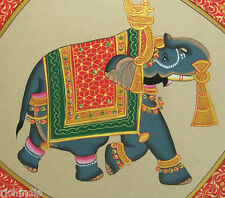 Animal elephant Art water color Indian Miniature painting