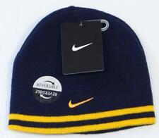 Nike Reversible Dark Blue & Yellow Knit Beanie Skull Cap Youth Boys 4-7 NWT