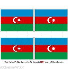ASERBAIDSCHAN Flagge Azerbaijani Fahne 50mm Vinyl Sticker Aufkleber x4