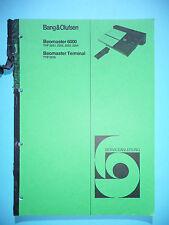 Service-Manual Bang&Olufsen Beomaster 6000 (2251-2254),Beomaster Terminal (2035)