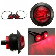 2 X 12V 3 Rojo LED indicador de Lado Marcador Lámpara Luz Camión Remolque Caravan CAMIÓN