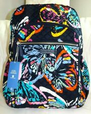 VERA BRADLEY Campus Backpack Book Bag - BUTTERFLY FLUTTER - Navy - New with Tag