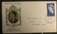 1953 Pretoria South Africa First Day Cover QE II Queen Elizabeth coronation FDC