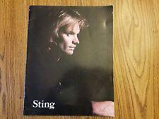Sting of 'The Police' U.S. 1988 large concert tour program + ticket stub ex cond