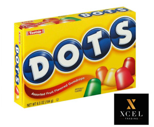 Dots Assorted Fruit Flavored Gumdrops 6.5 oz 184g   AMERICAN CANDY/SWEET