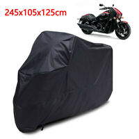 XL Motorcycle Waterproof Outdoor Motorbike Bike Rain Cover XL Black Storage UK
