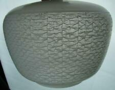 VINTAGE CEILING PENDANT SHADE, CLEAR GLASS WITH WHITE TEXTURED SURFACE