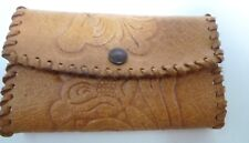 Vintage Hand Crafted Embossed Leather Coin Purse