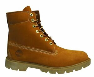 Timberland Classic 6 Inch Waterproof Wheat Leather Lace Up Mens Boots 10066
