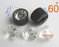 50x Led Lens 60 Degree For 1w 3w Lamp & Black Holder
