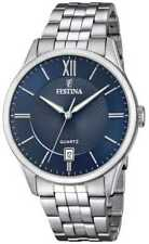 Festina   Heren Armband In Edelstaal   Blauwe F20425/2 Horloge