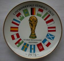 Orig.porcelaine plate  World Cup ARGENTINA 1978 - all participant Flags ! RARITY