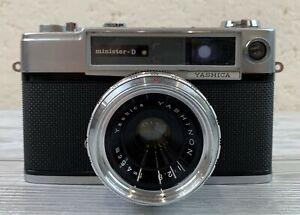 Yashica Minister-D 35mm Rangefinder Film Camera Yashinon 4.5cm f/2.8 Lens