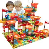 Run Bricks Marble Big Building Funnel gift Blocks Compatible Children Toys Slide