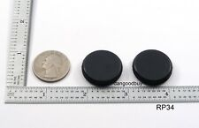 "2 Rubber Grommets Without Hole - Rubber Plug - Solid Grommet 3/4"" Diameter"