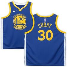 Stephen Curry Golden State Warriors Autographed Nike Blue Swingman Jersey