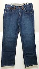 TOMMY HILFIGER Jeans Ladies Sz 14 Leather Patch & Belt Loops Blue Denim Pants
