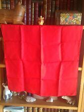 Andrew's Ties Red Scarf Foulard Vintage 100% Pure Silk