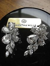 Samantha Wills Bridal Silver Earring Grand Marquis High Profile Setting NWT $199