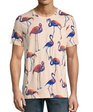 Men's All Over Flamingo Print Graphic T Shirt Arizona Jean Co. size Small
