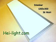 """LED Deckenlampe """" Panel-light"""" komplett Long 1200x300, dimmbar, Warm-Weiß"""