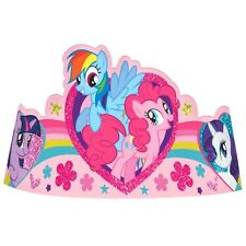MY LITTLE PONY PARTY SUPPLIES PAPER TIARA PACK OF 8 GENUINE LICENSED
