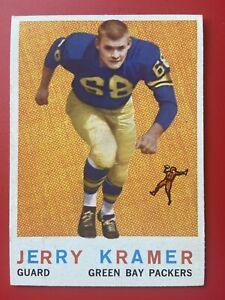 Vintage 1959 Topps Football Jerry Kramer Green Bay PACKERS #116 RC HOF PWE SHIP