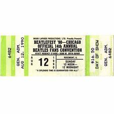 BEATLEFEST Concert Ticket Stub CHICAGO 8/12/90 O'HARE HYATT Beatles Convention