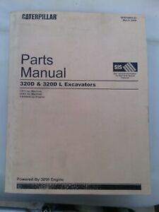 Caterpillar 320D and 320DL Track Type Excavator parts manual. Genuine Cat book.