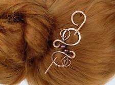 Small Antique Copper Hair Clip Hair Stick Metal Hair Silde Scarf Pin Shawl Pin