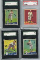 1934 GOUDEY LOU GEHRIG SAYS Lot Graded SGC 3 VG + 1933 RED LUCAS PSA VG EX 4 . 5
