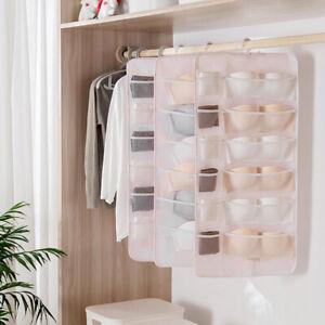 6/12/18Pockets Foldable Underwear Organizer Hanging Storage Bag for Tie Bra Sock