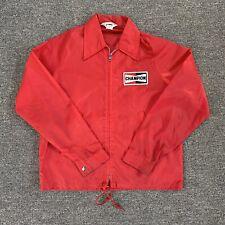 Vintage Used Champion Auto Parts Racing Jacket Size Medium