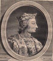 Portrait XVIIIe Louis X Le Hutin Roi De France Louis Ier Roi De Navarre Capétien