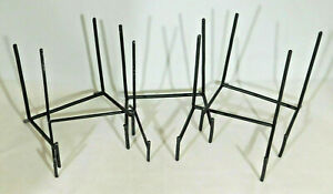 A Lot of Five (5) Very Sturdy Large Sized Black Iron Easel Display Stands!