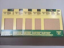 3M 9005Na 9-Inch by 11-Inch Aluminum Oxide Sandpaper, Assorted New - 5 Packs