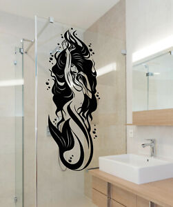 Vinyl Wall Decal Sexy Naked Mermaid Girl Bathroom Decor Stickers (3555ig)