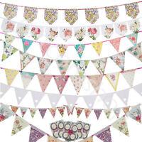 Vintage Shabby Chic Floral Bunting Banner Garland Wedding Birthday Garden Party