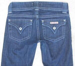 Hudson Signature Bootcut Jeans Sz 25 Dark Blue w Stretch Flap Pocs L 31