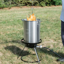 Backyard Pro Weekend 30 Qt Turkey Fryer Kit Aluminum Stock Pot Access. 55000 BTU