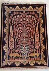 95 cm (3.11 ft) x 70 cm (2.29 ft) Persian Wool Authentic HandKnotted Rug